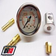 Fuel Pressure Test Gauge Inline Adaptor With 6mm Hose Unions High Pressure